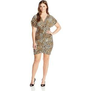 Ashley Stewart Animal Leopard Cheetah Print Dress